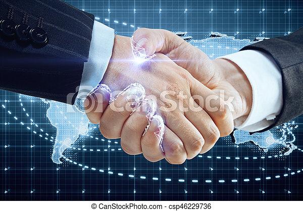 世界的である, 概念, 協力 - csp46229736