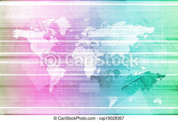 世界的なネットワーク - csp19028367