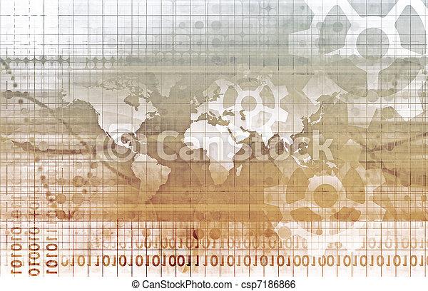 世界的なネットワーク - csp7186866