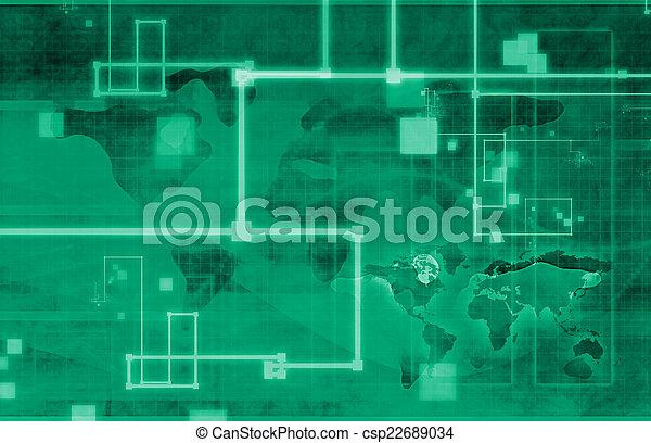世界的なネットワーク - csp22689034