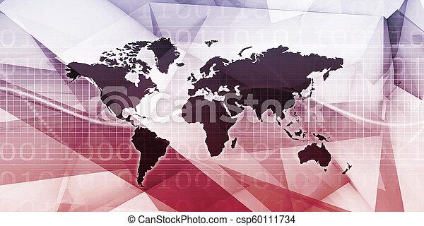 世界的なネットワーク - csp60111734