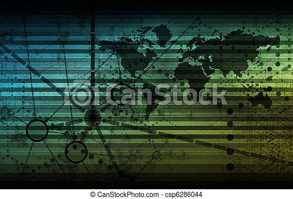 世界的なネットワーク - csp6286044