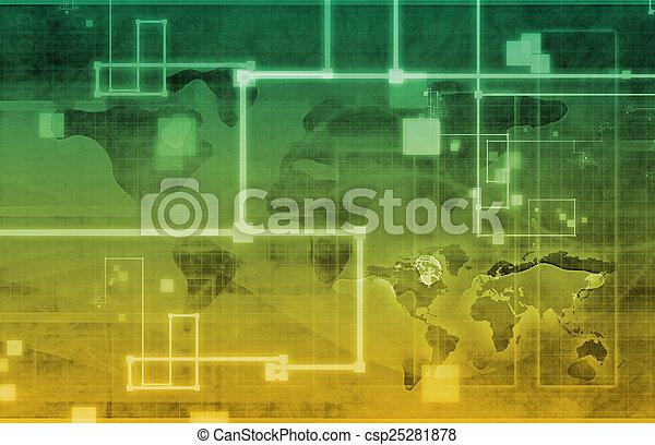 世界的なネットワーク - csp25281878