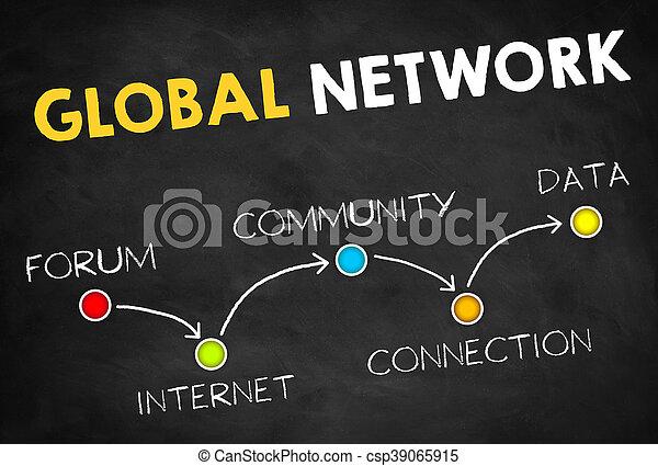 世界的なネットワーク - csp39065915