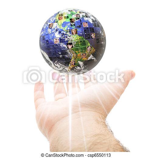 世界的に, コミュニケーション, 概念, 世界的である - csp6550113