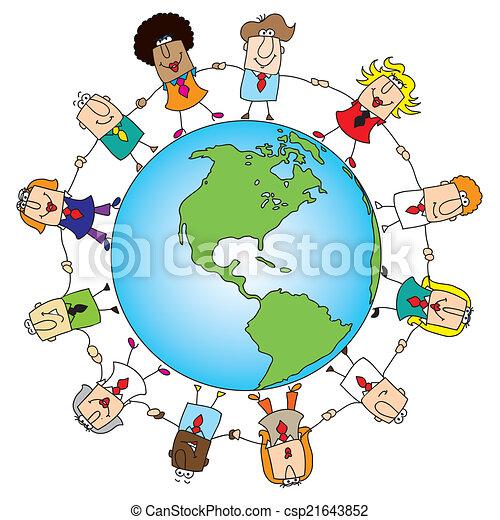 世界, チームワーク, のまわり - csp21643852