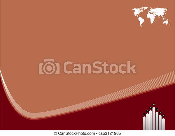 世界, テンプレート, 背景, 地図 - csp3121985