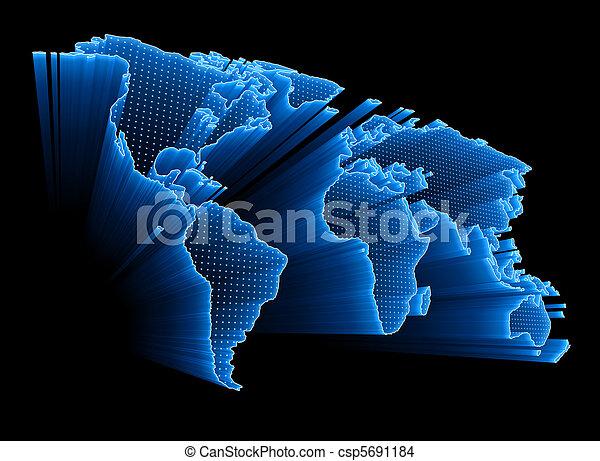 世界, デジタル, 地図 - csp5691184
