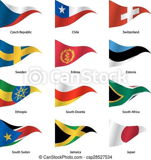 世界, ベクトル, 旗, セット, states., 主権, illustration. - csp28527534