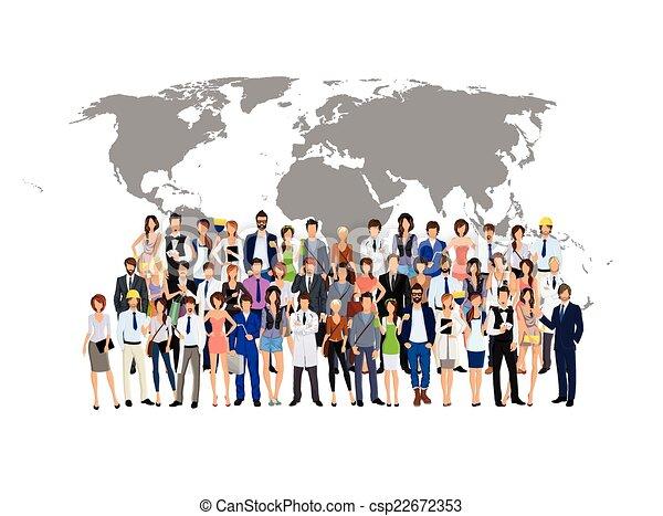 世界 人々 グループ 地図