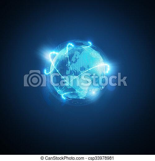 世界, 接続される - csp33978981