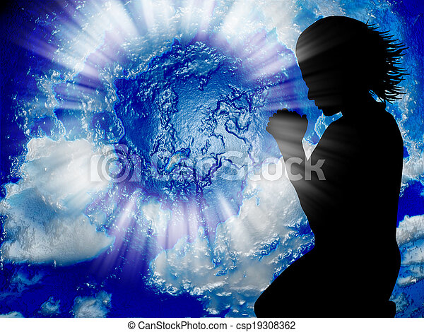 世界, 祈る - csp19308362
