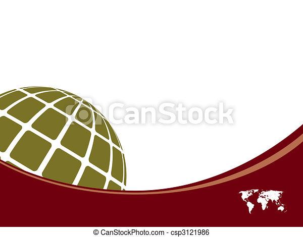 世界, 背景, テンプレート, 地図 - csp3121986