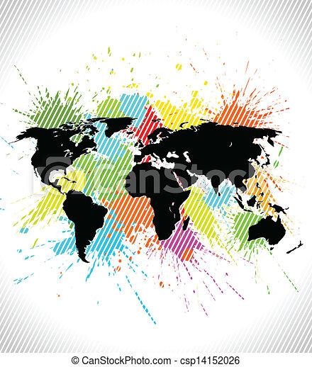 世界, 背景, 地図 - csp14152026