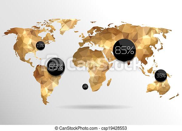 世界, 背景, 地図 - csp19428553