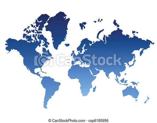世界, 背景, 地図 - csp6185956