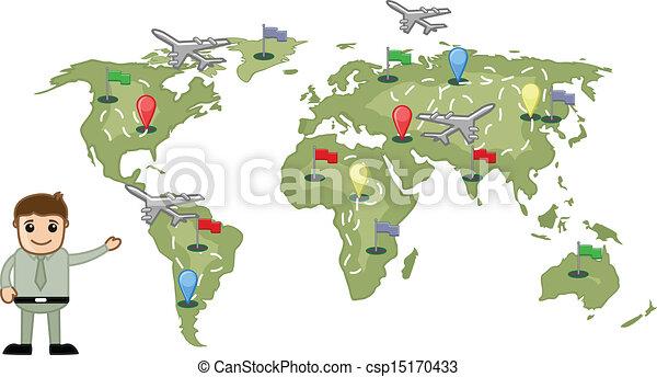 世界, 顯示, 概念, 旅行, 人 - csp15170433