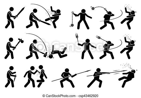 中世 武器 attack 使うこと 戦争 人 spear 古代 ハンマー 殻