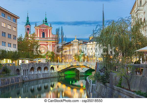 中世, europe., ljubljana, スロベニア, ロマンチック - csp35018550