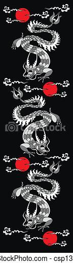 中国のドラゴン - csp13888094