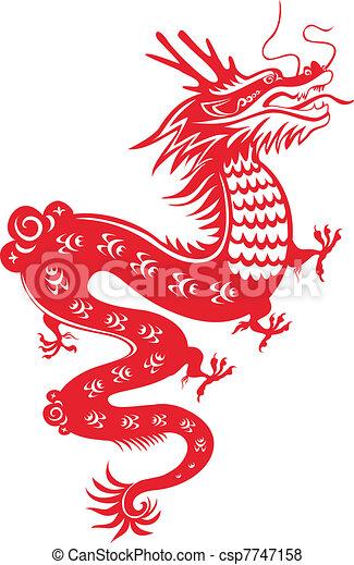 中国のドラゴン - csp7747158