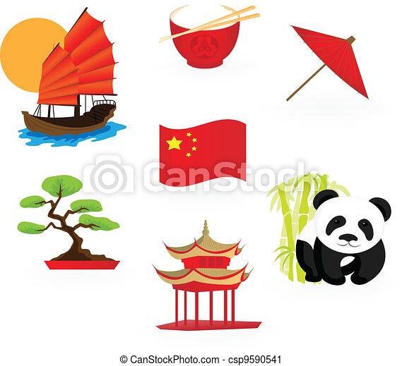中国語, アイコン - csp9590541