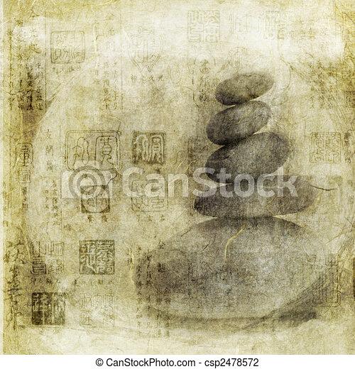 中国語, シール, 石 - csp2478572