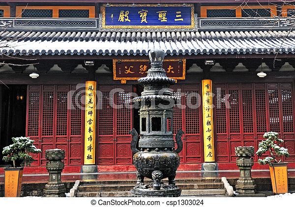 中国語, 仏教, 神社 - csp1303024