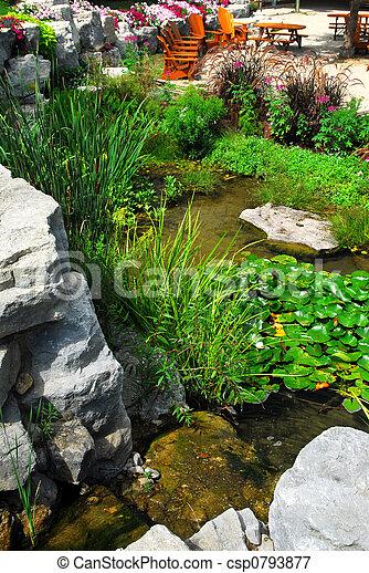 中庭, 美化, 池 - csp0793877