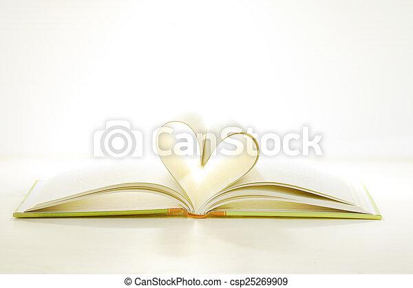 中心の 形, 本, ページ - csp25269909