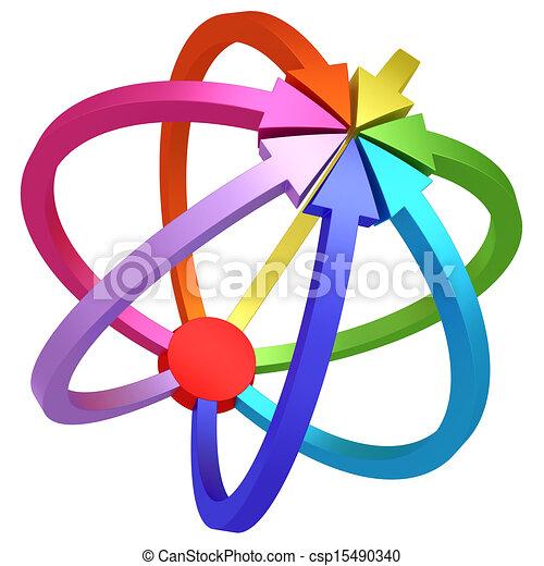 中心, カラフルである, 矢, 指すこと, 白, 1(人・つ), 赤, ターゲット - csp15490340