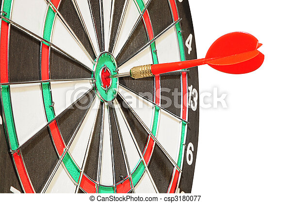 中心, ターゲット, 矢, さっと動く - csp3180077