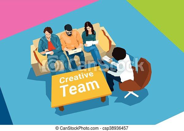 中心, ビジネス, 創造的, coworking, 仕事場, チーム - csp38936457