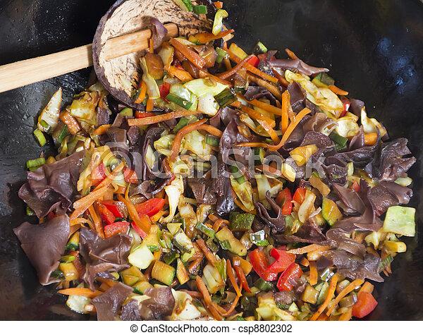 中華なべ, 食物, 混合 - csp8802302