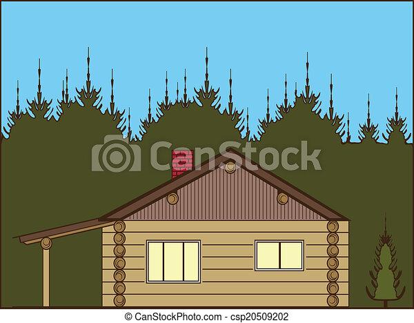 丸太小屋 - csp20509202