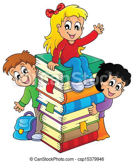 主題, イメージ, 子供, 4 - csp15379946