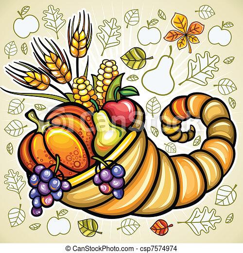 主題, 感謝祭 - csp7574974