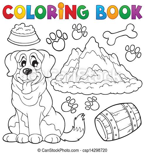 主題, 着色 本, 7, 犬 - csp14298720