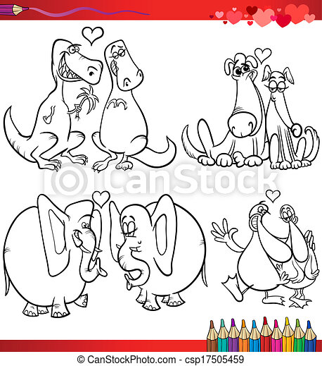 主題, 着色, 漫画, バレンタイン - csp17505459