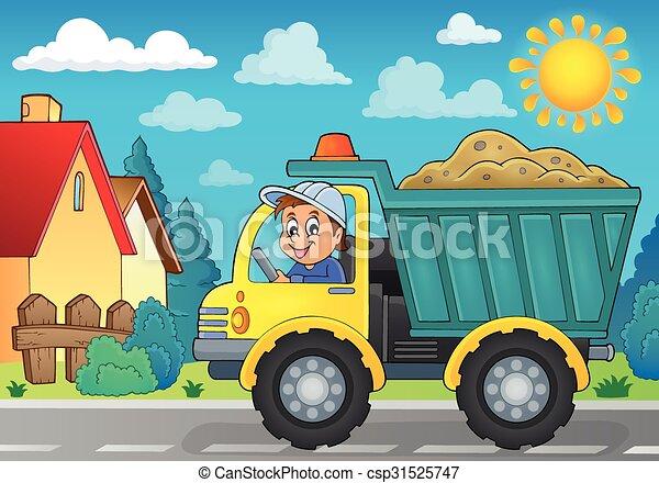 主題, 砂, イメージ, トラック, 3 - csp31525747