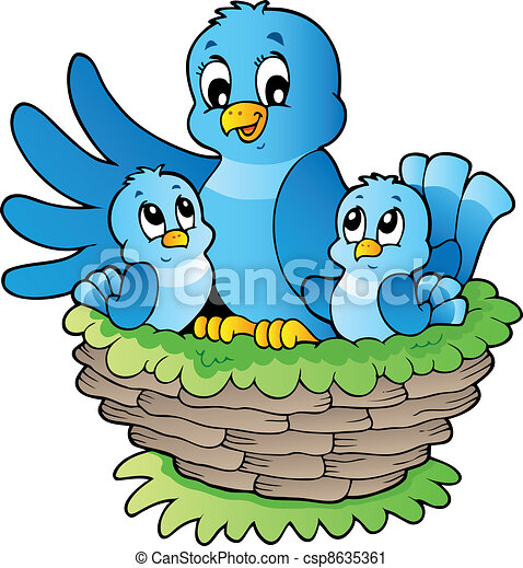 主題, 鳥, イメージ, 3 - csp8635361