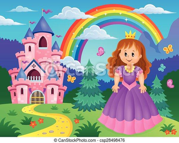 主題, 2, 王女, イメージ - csp28498476