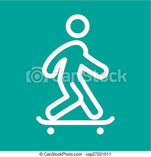 乗ること, スケート - csp27221011