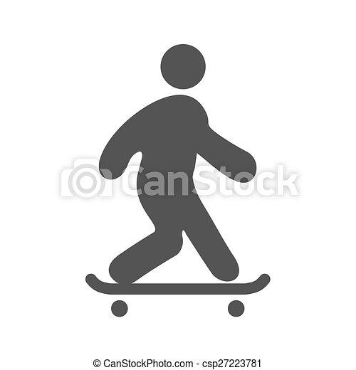 乗ること, スケート - csp27223781