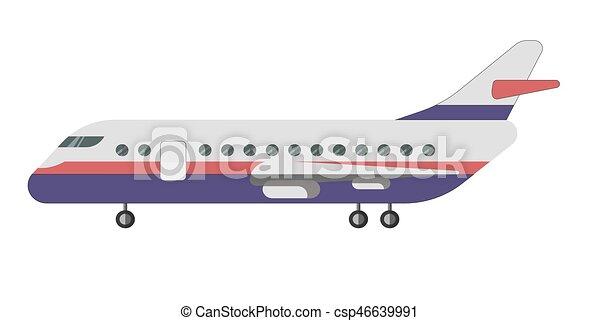 乗客 隔離された イラスト 航空機 ベクトル 背景 白 乗客