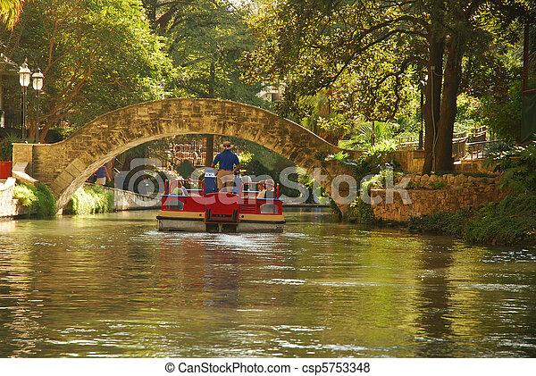 乗車, riverwalk, ボート - csp5753348