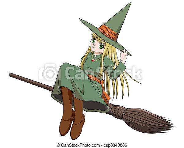乗馬 ほうき 魔女 かわいい イラスト 空気 ベクトル 魔女 ほうき
