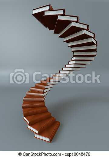 做, 书, 楼梯, render素材插图 - 搜索eps剪贴画,图形