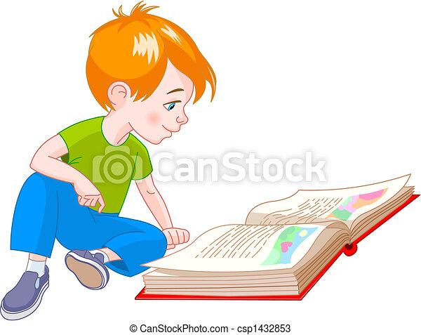 书, 男孩 - csp1432853