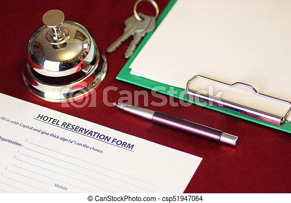 予約, ホテルの部屋 - csp51947064
